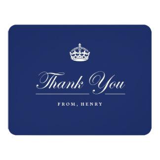 Keep Calm Navy Blue Birthday Party Thank You Card 11 Cm X 14 Cm Invitation Card