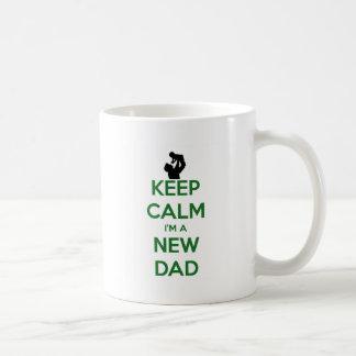 Keep Calm New Dad! Basic White Mug