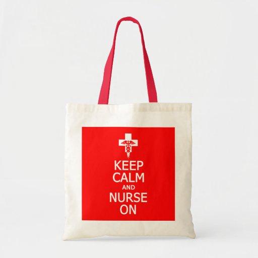 Keep Calm & Nurse On bag - choose style & color