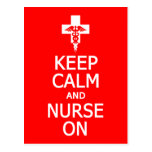 Keep Calm & Nurse On postcard, customize
