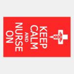 Keep Calm & Nurse On stickers