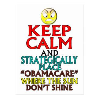 Keep Calm -- Obamacare Postcard
