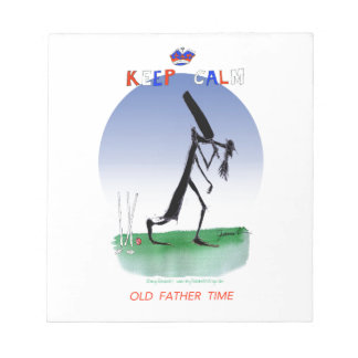 keep calm old father time, tony fernandes notepad