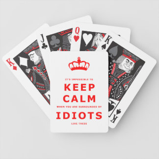 Keep Calm Parody - Surrounded by Idiots Cards 2