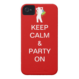 Keep calm & party on iPhone 4 Case-Mate cases