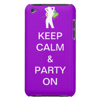 keep calm & party on iPod Case-Mate cases