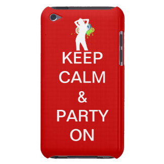 Keep calm & party on iPod touch case