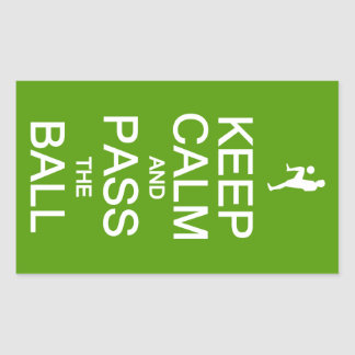 Keep Calm & Pass The Ball stickers