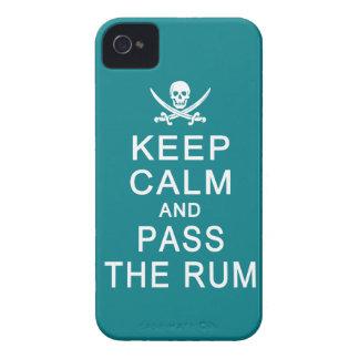 Keep Calm & Pass The Rum Blackberry Bold case