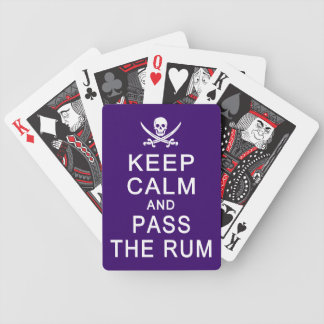 Keep Calm & Pass The Rum playing cards