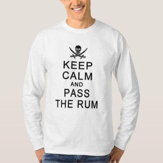 KEEP CALM & PASS THE RUM shirt - choose style