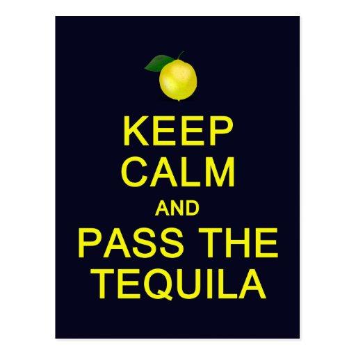 Keep Calm & Pass The Tequila postcard, customize