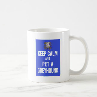 Keep Calm Pet Greyhound Mugs