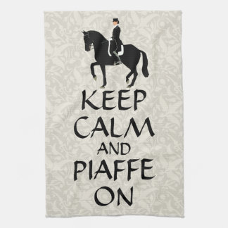 Keep Calm & Piaffe On Dressage Tea Towel