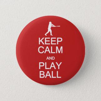 Keep Calm & Play Ball custom buttons