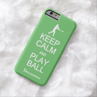 Keep Calm & Play Ball custom color cases