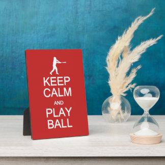 Keep Calm & Play Ball custom color plaque
