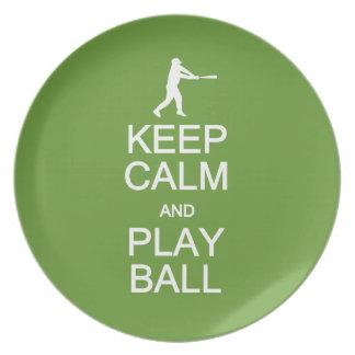 Keep Calm & Play Ball custom color plate