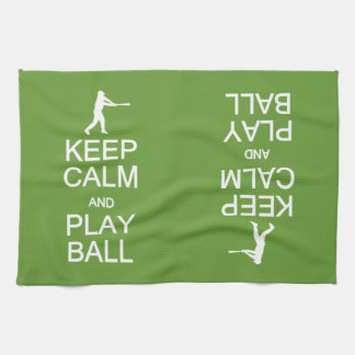 Keep Calm & Play Ball custom hand towel