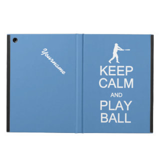 Keep Calm & Play Ball custom monogram cases Case For iPad Air