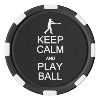 Keep Calm & Play Ball custom poker chips