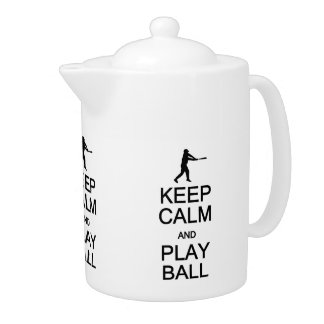 Keep Calm & Play Ball custom teapot