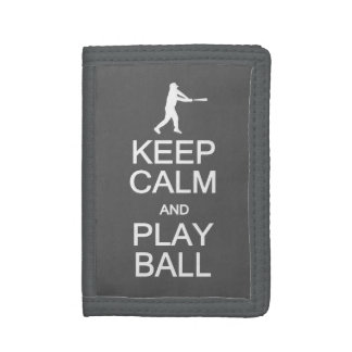 Keep Calm & Play Ball custom wallets