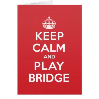 Keep Calm Play Bridge Greeting Note Card