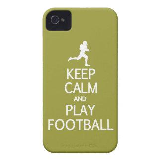Keep Calm & Play Football custom Blackberry case