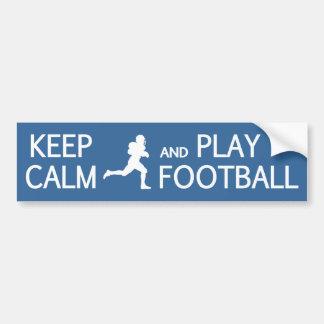 Keep Calm & Play Football custom bumpersticker Bumper Sticker