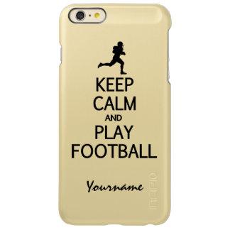 Keep Calm & Play Football custom cases