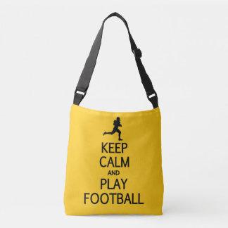 Keep Calm & Play Football custom color bags