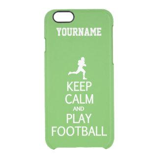 Keep Calm & Play Football custom color cases