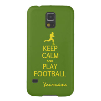 Keep Calm & Play Football custom color cases