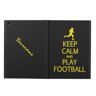 Keep Calm & Play Football custom color cases Case For iPad Air