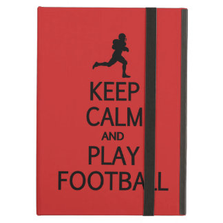 Keep Calm & Play Football custom color cases iPad Air Cover