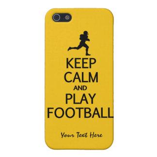 Keep Calm & Play Football custom color cases iPhone 5 Cases