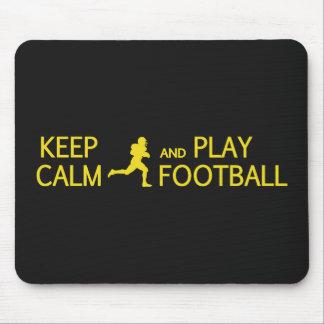 Keep Calm & Play Football custom color mousepad