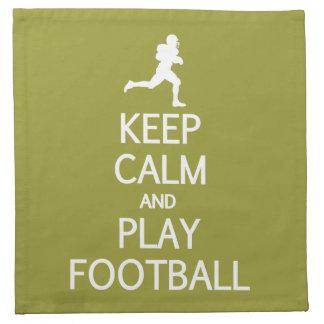 Keep Calm & Play Football custom color napkins