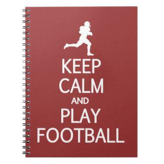KEEP CALM & PLAY FOOTBALL custom color notebook
