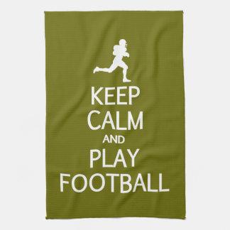 Keep Calm & Play Football custom color towel