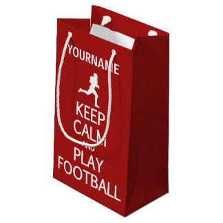 Keep Calm & Play Football custom gift bags