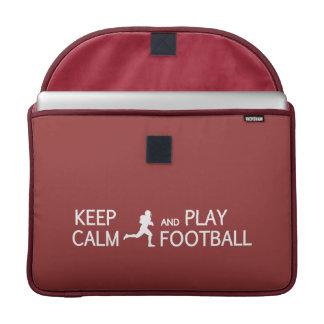Keep Calm & Play Football custom MacBook sleeve