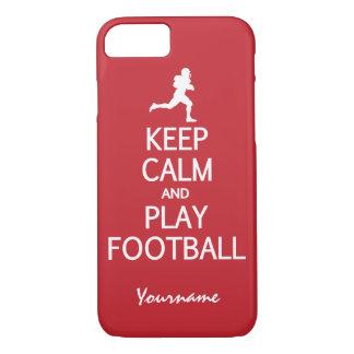 Keep Calm & Play Football custom phone cases