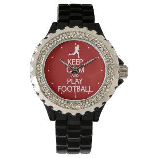 Keep Calm & Play Football custom watches