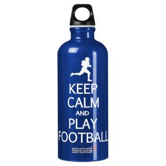 Keep Calm & Play Football Water Bottle