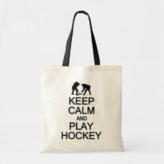 Keep Calm & Play Hockey bag - choose style, color