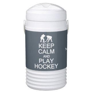 Keep Calm & Play Hockey custom beverage coolers Cooler
