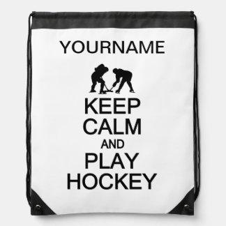 Keep Calm & Play Hockey custom color bag