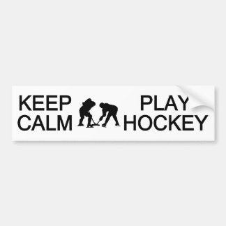 Keep Calm & Play Hockey custom color bumpersticker Bumper Sticker